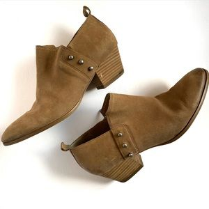 EUC Franco Sarto Graham Distressed Leather Booties